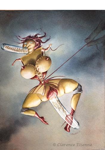 """-en tubes-aquarelle de la série """"pouppsy"""", clarence etienne"""